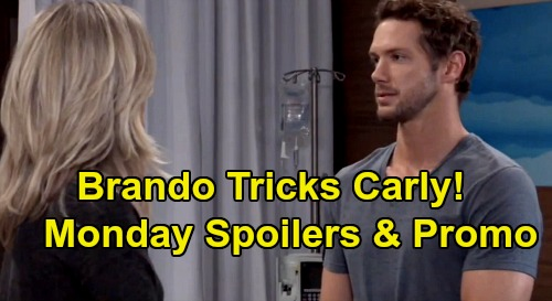 General Hospital Spoilers: Monday, February 10 – Brando Passes Carly's Test – Peter's Treacherous Phone Call – Sonny Shouts at Jason