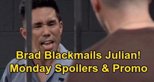 General Hospital Spoilers: Monday, February 24 – Brad Blackmails Julian – Nik & Ava's Cheating Schemes Target Franco & Liz