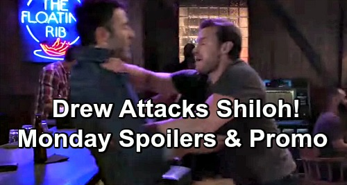 General Hospital Spoilers: Monday, July 22 - Drew Attacks Shiloh - Lulu Devastating News - Valentin Confronts Ava