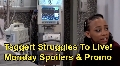 General Hospital Spoilers: Monday, March 2 – Taggert Fights to Survive – Laura Gets Cyrus In Solitary Over Cam Almost Dying