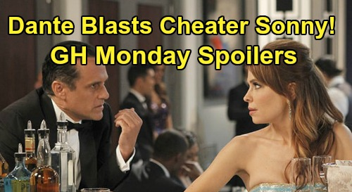 General Hospital Spoilers: Monday, May 25 – Dante Explodes at Cheating Sonny – Sam's Red-Carpet Tumble – Nathan Rattles Maxie