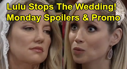 General Hospital Spoilers: Monday, October 7 - Lulu Interrupts Wedding - Carly Panics Over Donna - Sam Busts Peter
