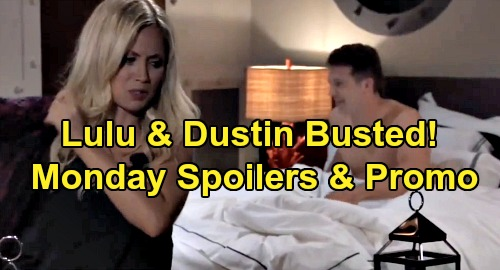 General Hospital Spoilers: Monday, September 16 – Lulu & Dustin Busted in Bed – Sasha Tells Michael She's Not Nina's Daughter