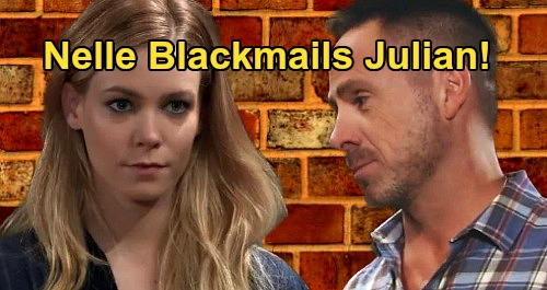 General Hospital Spoilers: Nelle Blackmails Julian For Wiley Custody Help – Plot Against Mutual Corinthos Enemy?