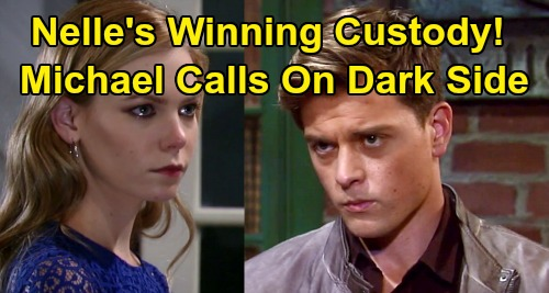General Hospital Spoilers : Nelle Custody Win Nears - Michael Embraces Dark Side to Save Wiley ?