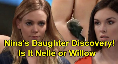 General Hospital Spoilers Nina S Nurses Ball Necklace Shocker Daughter Discovery Will Willow Or Nelle Wear Matching Half Heart Pendant Celeb Dirty Laundry