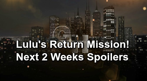 General Hospital Spoilers Next 2 Weeks: Lulu Returns on a Mission – Oscar's End of Life Drama – Ava's Terrifying Phone Call