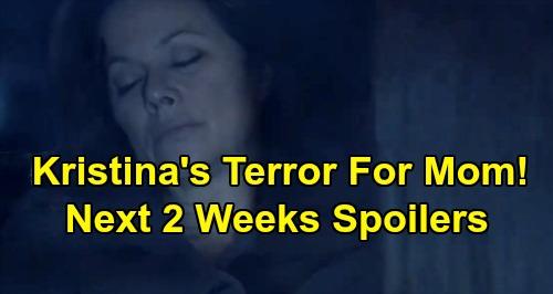 General Hospital Spoilers Next 2 Weeks: Kristina Terrified To Lose Alexis – Laura Stops Peter's Getaway – Willow Pregnancy Truth