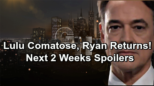 General Hospital Spoilers Next 2 Weeks: Lulu Barely Survives First Attack - Ryan Sneaks In to Finish Off Comatose Patient