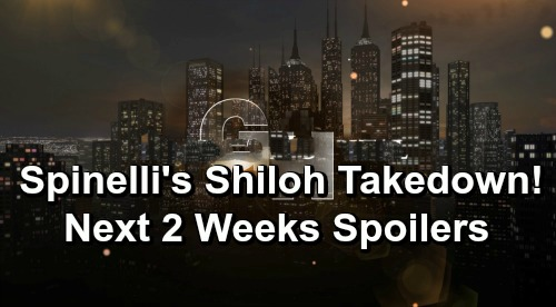 General Hospital Spoilers Next 2 Weeks: Spinelli's Risky Shiloh Takedown – Ryan's Bloody Nurses Ball – Carly's Baby Crisis