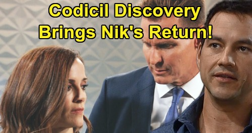 General Hospital Spoilers: Nikolas The Secret Partner Behind Codicil Search - Spencer's Father Still Alive, Plotting Return?