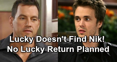 General Hospital Spoilers: Leak Fixed - Lucky Spencer Doesn't Find Nikolas Cassadine - No Jonathan Jackson Return Planned