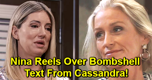 General Hospital Spoilers: Nina Reels Over Cassandra's Evil Plan – Text Bombshell Leads to Major Cassadine Revelations
