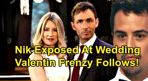 General Hospital Spoilers: Nikolas Exposed At Nina's Revenge Wedding - Valentin's Frenzy Follows Surprise Twist