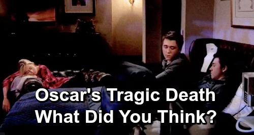 General Hospital Spoilers: Oscar's Tragic Death Farewell Episode – GH Fans Have Mixed Emotions