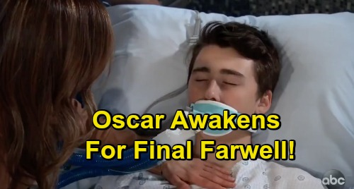 General Hospital Spoilers: Oscar Awakens from Coma for Final Farewell – Josslyn Fulfills One Last Wish