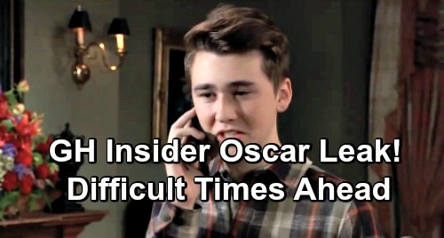 General Hospital Spoilers: Dark Days Ahead for Oscar – Loved Ones Face the Worst, Risky Treatment Brings Crisis