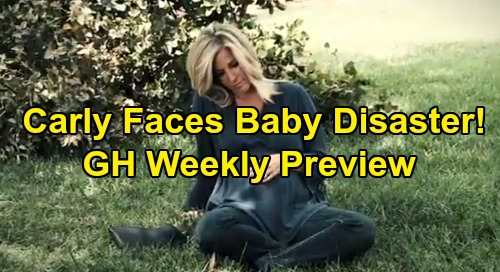 General Hospital Spoilers: Week of August 19 Preview - Carly Faces Baby Disaster - Franco Takes On Shiloh