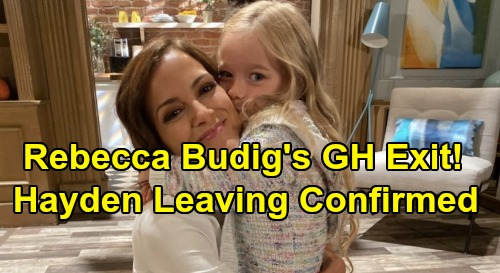 General Hospital Spoilers: Rebecca Budig GH Exit Confirmed – Hayden Escapes PC, Violet Stays with Finn