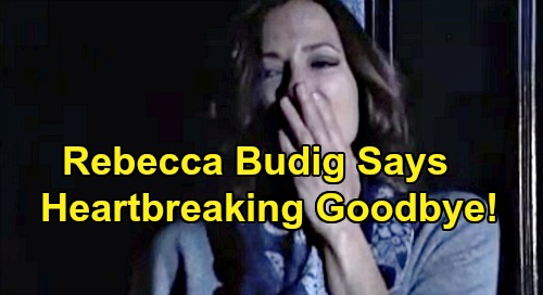 General Hospital Spoilers: Rebecca Budig's Heartbreaking Goodbye Exit Message – Insists 'Never Say Never' to Comeback