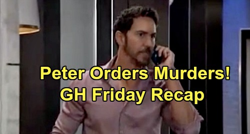 General Hospital Spoilers: Friday, December 6 Recap - Peter Orders Andre & Franco Murdered - Brook Lynn's Secret - Griffin Returns
