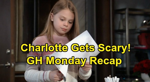 General Hospital Spoilers: Monday, January 20 Recap - Nelle Invited To Live At The Q Mansion - Charlotte Destroys Sasha's Photo