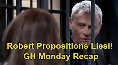 General Hospital Spoilers: Monday, March 16 Recap - Intruder At Brando's Bike Shop - Sonny Warns Julian - Robert Propositions Obrecht