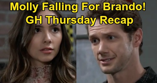 General Hospital Spoilers: Thursday, April 2 Recap - Molly & Brando Hit It Off - Laura Sends Cyrus to Ferncliff - Sonny Breaks Down