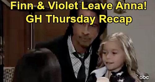 General Hospital Spoilers: Thursday, February 13 Recap - Finn Takes Violet & Leaves Anna - Helena Appears to Valentin - Brad Panics Nelle