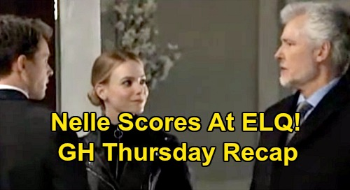 General Hospital Spoilers: Thursday, January 16 Recap - Nelle Scores ELQ Shares, Moves In With Brad - Sonny Heads To New York