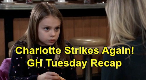 General Hospital Spoilers: Tuesday, February 11 Recap - Peter Sabotages JaSam's Deal - Charlotte Strikes Again - Valentin's DNA Test