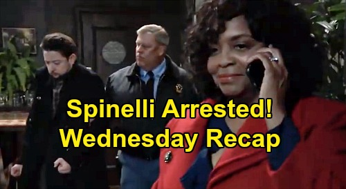 General Hospital Spoilers: Wednesday, March 25 Recap - Spinelli Arrested - Nelle Says No Wiley Surgery - Cyrus To Walk Free