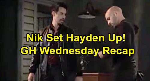 General Hospital Spoilers: Wednesday, November 27 Review - Hayden Set Up By Nikolas - Valentin Close To The Truth - Willow's Pregnancy