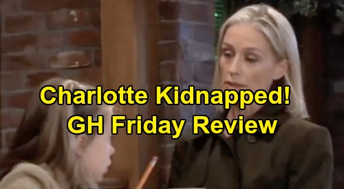 General Hospital Spoilers: Friday, November 8 Review - Cassandra Kidnaps Charlotte - Tony's Spirit Visits Lucas - Ava Refuses To Hand Over Portrait