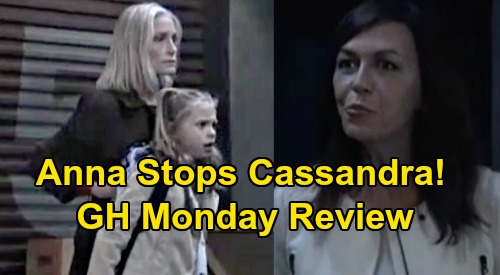 General Hospital Spoilers: Monday, November 11 Review - Anna Thwarts Cassandra's Plan - Julian Nearly Tells Lucas About Wiley