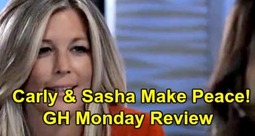 General Hospital Spoilers: Monday, October 21 Review - Sasha & Carly Make Peace - Finn Summons Hayden - Ava's NOT Paranoid