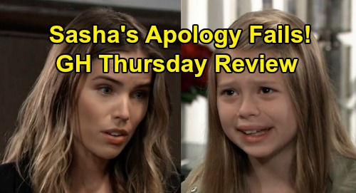 General Hospital Spoilers: Thursday, October 10 Review - Peter Frames Sam - Helena's Portrait Missing - Sasha's Apology Tour