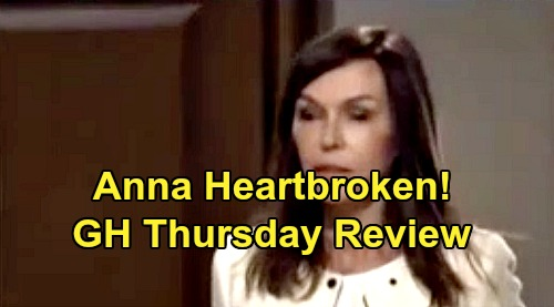 General Hospital Spoilers: Thursday, November 14 Review - Charlotte Tells Laura About Man On Docks - Anna Catches Finn & Hayden