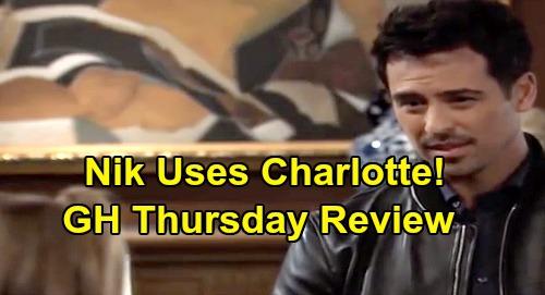 General Hospital Spoilers: Thursday, November 21 Review - Ava Dismisses Valentin - Nikolas Uses Charlotte - Nina Confides In Jax