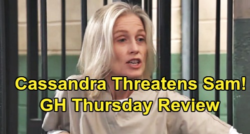 General Hospital Spoilers: Thursday, October 31 Review - Nikolas Startles Ava - Cassandra Threatens Sam - Cam & Joss Busted