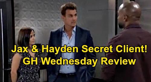 General Hospital Spoilers: Wednesday, September 11 Review - Hayden & Jax Keep Partner Secret - Curtis Assumes It's Spencer, Is It Nik?