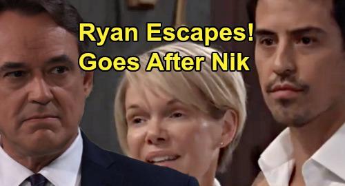 General Hospital Spoilers: Ryan Escapes, Ava & Nikolas' Marriage Brings Deadly Danger – Serial Killer Goes After Groom?