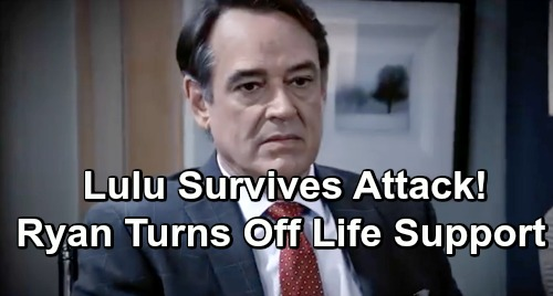 General Hospital Spoilers: Enraged Ryan Furious Over Lulu's Failed Murder – Turns Off Life Support To Finish the Job