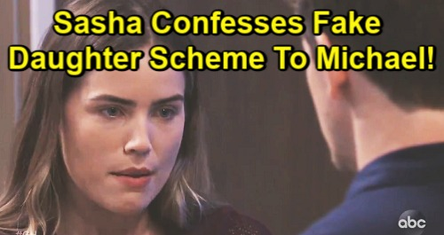 General Hospital Spoilers: Sasha Confesses Fake Daughter Shocker – Michael Reels Over Deception, Faces Agonizing Choices?