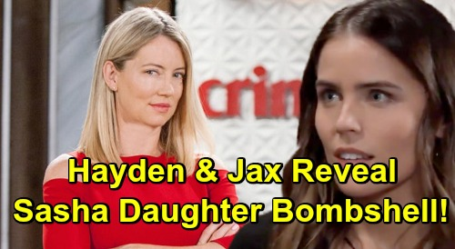 General Hospital Spoilers: Hayden and Jax Plot Valentin's Total Destruction - Reveal Sasha Fake Daughter Bombshell?