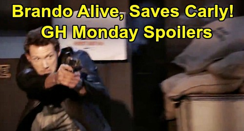 General Hospital Spoilers: Monday, January 27 – Shootout Aftermath – Brando's Alive, Saves Carly – Jason Forced to Kill - Dustin's a Hero
