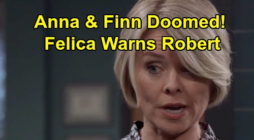 General Hospital Spoilers: GH Sneak Peek Monday October 21 – Finn and Anna's Engagement Crumbles – Felicia Warns Robert of Doom