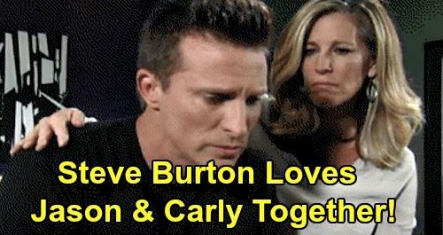 General Hospital Spoilers: Steve Burton Loves Carly & Jason, Says Don't Tell Sonny – GH's Jason Morgan Shares Love for 'Jarly'