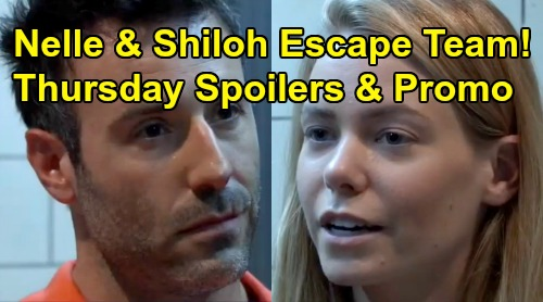 General Hospital Spoilers: Thursday, August 22 – Nelle and Shiloh Escape Buddies – Drew's Doomed Flight – Lulu Leans on Dustin