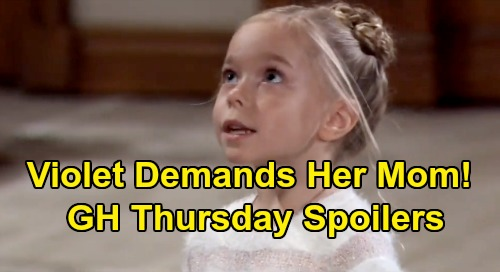 General Hospital Spoilers: Thursday, December 26 – Maxie Warns Peter About Jason – Violet Misses Her Mom – Mike's Holiday Heartbreak